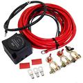 Dual Battery Smart Isolator,12V 140A Dual Battery Isolator Voltage Sensitive Relay & Wiring Cable Kit for ATV, UTV, Boats, RV's