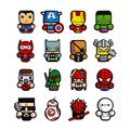 Avengers Fridge Magnets, Philyt 16 Pcs Kitchen Refrigerator Magnets, Office Magnets, Calendar Magnet, Whiteboard Magnets, Perfect Gifts for Children and Adults, Ornaments Decoration collectionism