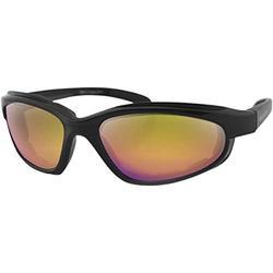 Bobster Fat Boy Sunglasses Matte Black w/Purple/Yellow Lens