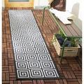 World Menagerie Headrick Gray Indoor/Outdoor Area Rug Polypropylene in Brown/Gray, Size 96.0 H x 24.0 W x 0.19 D in | Wayfair