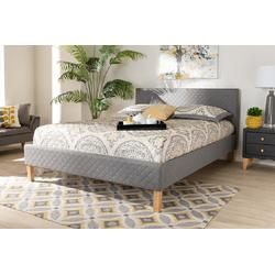 Baxton Studio Aneta Modern & Contemporary Grey Fabric Upholstered King Size Platform Bed - CF9014-Grey-King