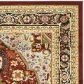 Lyndhurst Collection 9' X 12' Rug in Ivory And Rust - Safavieh LNH330R-9