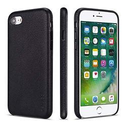 iPhone 7 Case iPhone 8 Case iPhone SE 2020 Cases Rejazz Anti-Scratch iPhone 7 Cover iPhone 8 Cover Genuine Leather Apple iPhone Cases for iPhone 7/8/SE 2020 (4.7 Inch)(Black)