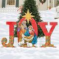 G.DeBrekht Christmas Joy Nativity Yard Sign - Holly Family Front Yard Scene 8121456F
