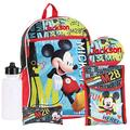 Personalized Licensed Backpack - 16 Inch (Mickey Mouse 5 Piece Backpack Set)