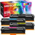 Amstech Compatible Toner Cartridge Replacement for Canon 054 054H Cartridge 054 Toner MF644Cdw Canon Color ImageCLASS MF644Cdw MF642Cdw LBP622Cdw MF642 MF644 Toner (Black Cyan Yellow Magenta, 4-Pack)