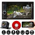 For 1998-2012 Ford F-150/F-250 7 Inch Universal Double Din in Dash Car Stereo Audio Car DVD/CD/MP3 Player Bluetooth FM AM Radio with Mirror Link for GPS and Reversing Image + Free Rear Camera