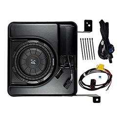 PSICRE16I KICKER PowerStage Multi-Channel Amplifier & Powered Subwoofer Upgrade Kit for 2016-2018 Chevrolet Silverado & GMC Sierra Crew Cab (Not Compatible w Bose)