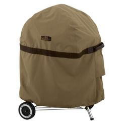 """Classic Accessories Kettle Hickory® Grill Cover - Fits up to 26""""Polyester in Gray/Red, Size 43.0 H x 26.0 W x 30.0 D in   Wayfair 56-046-042401-EC"""