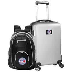 """""""Toronto Blue Jays Deluxe 2-Piece Backpack and Carry-On Set - Silver"""""""