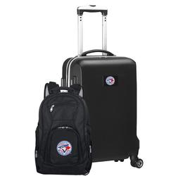 """""""Toronto Blue Jays Deluxe 2-Piece Backpack and Carry-On Set - Black"""""""