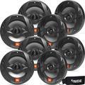 JBL MS8B OEM Replacement Marine 8 Inch Two-Way Speakers - Eight Speakers, Black