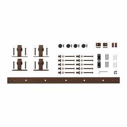 American Pro Decor Solid Mini Sliding Standard Double Door Barn Door Hardware Kit in Brown, Size 1.0 H x 72.0 W x 1.0 D in   Wayfair 5APD10910