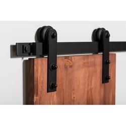 Flat Track by Leatherneck Hardware 302 Straight Light Single Track Sliding Barn Door Hardware Kit in White | Wayfair 3031-8008