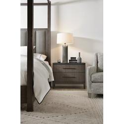 Hooker Furniture Miramar Aventura San Marcos Stone Top 2 Drawer Nightstand Wood in Brown/Gray, Size 25.25 H x 32.0 W x 18.75 D in   Wayfair