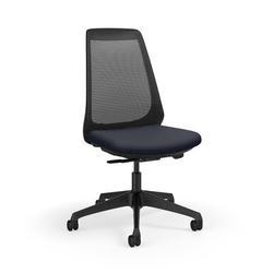 KI Furniture Oath Mesh Task Chair Aluminum/Upholstered/Polyester/Polyester Blend in Black, Size 44.0 H x 27.5 W x 27.5 D in   Wayfair