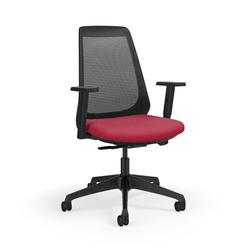 KI Furniture Oath Ergonomic Task Chair Aluminum/Upholste/Polyester/Polyester Blend in Red, Size 44.0 H x 27.5 W x 27.5 D in   Wayfair