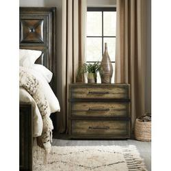 Hooker Furniture American Life-Crafted 3 Drawer Nightstand Wood/Metal in Brown, Size 29.5 H x 32.25 W x 19.75 D in | Wayfair 1654-90016B-DKW1