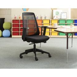 KI Furniture Oath Ergonomic Task Chair Aluminum/Upholstered/Polyester/Polyester Blend in Black, Size 44.0 H x 27.5 W x 27.5 D in   Wayfair