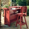 Uwharrie Chair Companion 3 Piece Bar Set Wood in Red, Size 41.75 H x 53.0 W x 27.0 D in | Wayfair
