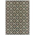 World Menagerie Berryville Floral Gray/Navy/Persimmon Indoor/Outdoor Area RugPolypropylene in Gray/White, Size 87.0 H x 63.0 W x 0.12 D in | Wayfair