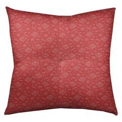 "Latitude Run® Avicia Pizza Floor Pillow, Polyester/Polyfill/Polyester/Polyester blend in Red, Size 26"" x 26""   Wayfair"