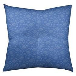 "Latitude Run® Avicia Pizza Floor Pillow, Polyester/Polyfill/Polyester/Polyester blend in Blue, Size 26"" x 26"" 