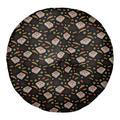Latitude Run® Avicia Pizza Floor Pillow, Polyester/Polyfill/Polyester/Polyester blend in Black, Size 26 x 26 | Wayfair