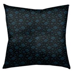 "Latitude Run® Avicia Pizza Floor Pillow, Polyester/Polyfill/Polyester/Polyester blend in Black/Blue, Size 26"" x 26""   Wayfair"