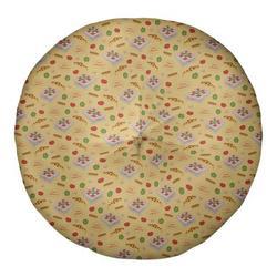 Latitude Run® Avicia Pizza Floor PillowPolyester/Polyfill/Polyester/Polyester blend in Yellow, Size 26.0 H x 26.0 W x 7.0 D in | Wayfair