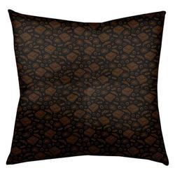 "Latitude Run® Avicia Pizza Floor Pillow, Polyester/Polyfill/Polyester/Polyester blend in Black/Orange, Size 26"" x 26"" | Wayfair"