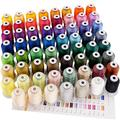 New brothreads 63 Brother Colors Polyester Embroidery Machine Thread Kit 500M (550Y) Each Spool for Brother Babylock Janome Singer Pfaff Husqvarna Bernina Embroidery and Sewing Machines