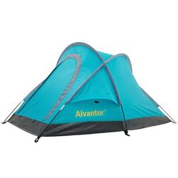 Alvantor Camping Outdoor Warrior Pro Backpacking Waterproof Family Pop Up Instant Portable Compact Shelter 2 Person Tent w/ Carry Bag Fiberglass