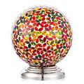 10 inch Colorful Mosaic Glass Gazing Ball with Garden Sphere Stand Square Mosaic Pattern to Bring Color and Reflection to Any Home and Garden Outdoor Lawn and Yard Ornament Pedestals