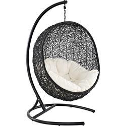 Encase Swing Outdoor Patio Lounge Chair EEI-739-SET