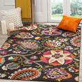 Monaco Collection 9' X 12' Rug in Teal And Orange - Safavieh MNC262M-9