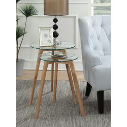 Clearview Round Nesting End Tables - Convenience Concepts-111645