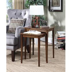 American Heritage Nesting End Tables in Espresso Finish - Convenience Concepts 7105076