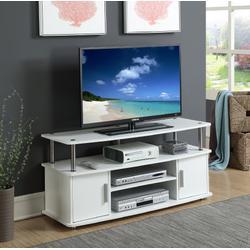 Designs2Go Monterey TV Stand in White - Convenience Concepts 151401W