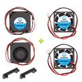 WINSINN 24V 40mm Fan Blower for Cooling Ender 3 / Pro Turbine Turbo 40x10mm 4010 DC Brushless Dual Ball Bearing, with Air Guide Parts - High Speed (Pack of 4Pcs)