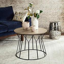Safavieh Home Collection Alcott Retro Mid-Century Light Oak and Black Wood End Table