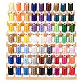 Simthread 63 Colors 40Wt Polyester Embroidery Machine Thread Kit for Brother Kenmore Janome Pfaff Bernina Singer Embroidery and Sewing Machines