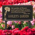 Whitehall Products Dianthus Personalized Garden SignMetal, Size 16.5 H x 8.63 W x 0.38 D in | Wayfair 2371BG