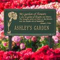 Whitehall Products Dianthus Personalized Garden SignMetal, Size 16.5 H x 8.63 W x 0.38 D in | Wayfair 2371GG
