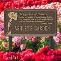 Whitehall Products Dianthus Personalized Garden SignMetal, Size 16.5 H x 8.63 W x 0.38 D in | Wayfair 2371OG