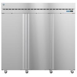 "Hoshizaki R3A-FS SteelHeart 83"" Three Section Reach In Refrigerator, (3) Right Hinge Solid Doors, 115v"