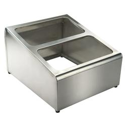 """Winco SCPH-33 2 Compartment Condiment Packet Holder - 16"""" x 13 1/2"""", Stainless Steel"""