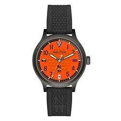 Nautica N83 Men's NAPCFS915 Crissy Field Black/Orange Silicone Strap Watch