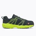 Merrell Men's Fullbench Superlite Alloy Toe Work Shoe, Size: 9, Black/Lime