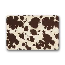 DaringOne Door Mat Big Cow Fur Print Pattern Doormat Rug/Front Door/Bathroom Mats Floor Mat 15.7X 23.6inch